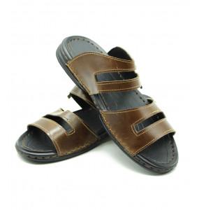 Mengestu_ Genuine Leather Upper Men's Open Shoe