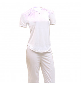 Markon Women's Short Sleeve Top and Pant Set Night Wear