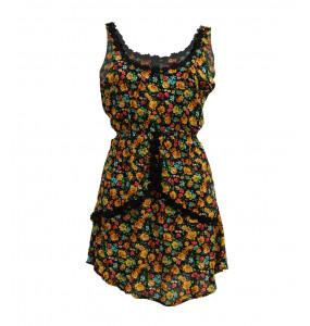 Markon Women's  Floral Sleeveless Mini Dress