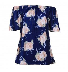 Markon Stylish off Shoulder Flora Printed Women Shirt