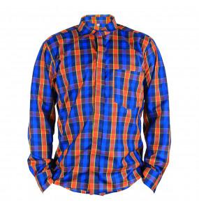Markon_ Men's Long Sleeve Casual Button-front Shirt