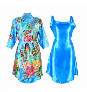 Markon_ 2 Piece Satin Silk Nightwear Gown Set