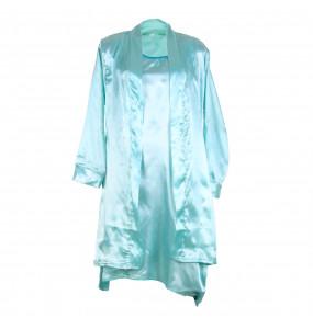 Markon Women's Tow Piece Satin Silk Pajamas Set