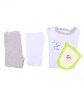 Markon Kids Pajamas Cotton Sleepwear 4 Piece Set