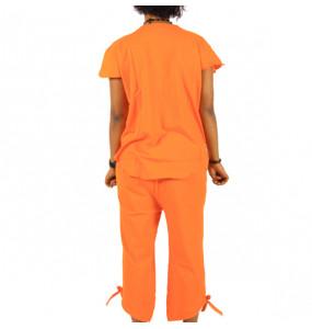 Markon_ Cotton Women's Pajama Set Sleepwear Tops with Capri Pants