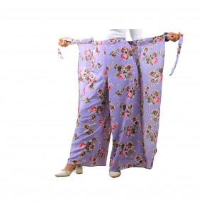 Markon Chiffon Wrap/Palazzo Pant For Women