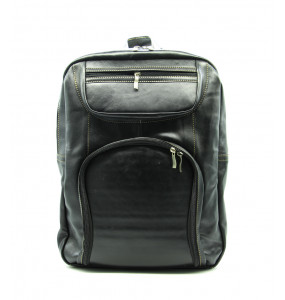 Menaleshewa_ Genuine Leather Made Boys Classic School Backpack 3 Pockets