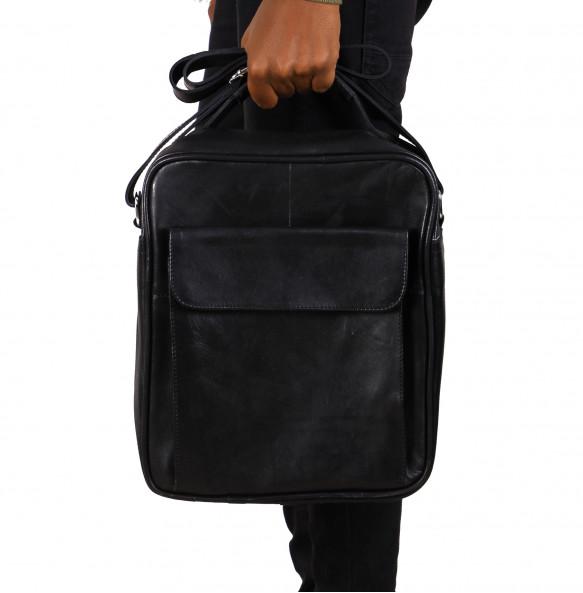 Minalshawa_ Men's Leather Classic Laptop Bag