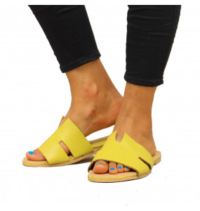 Senayit_  Leather Top Women's Open Shoe