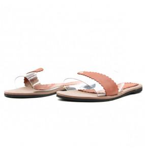 Senite_ Women's Genuine Leather Flat Open Shoe