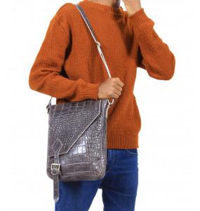 Tiru Men's Genuine Leather Medium Shoulder Bag (30*22cm)