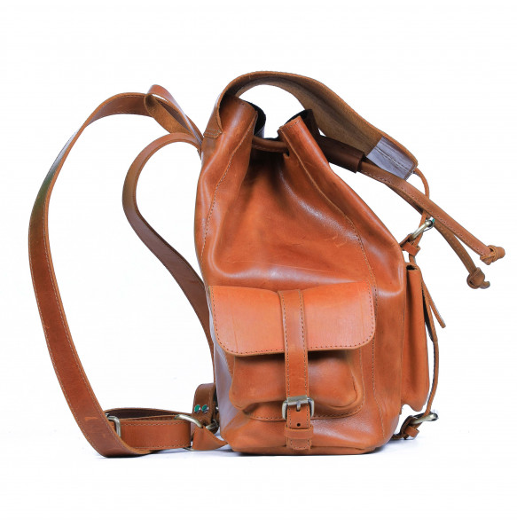 Tiru Unisex Hand Made Pure Leather Travel Back Bag