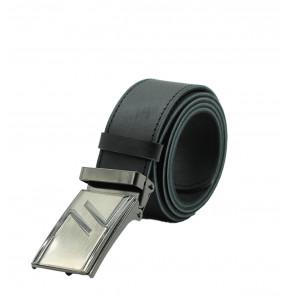 TIRU_ Genuine Leather with Automatic Buckle Adjustable Belt for Men