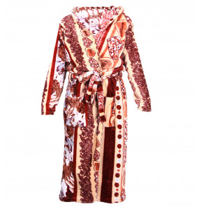 Kalu_ Adult's Soft Terry Hooded Bathrobe Dressing Gown
