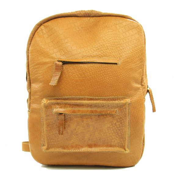 Yenaneshe_ Genuine Leather School Backpack