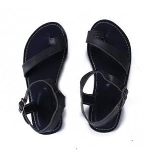 Fikadu& Elsabet_  Women's Leather Upper Flat open Shoe