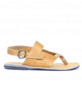 Fikadu _Men's Genuine Leather Flat Sandal Shoe