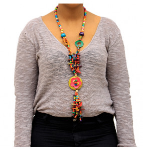 Beautiful Multi-Layer  Necklaces Made of wooden & Paper Beads