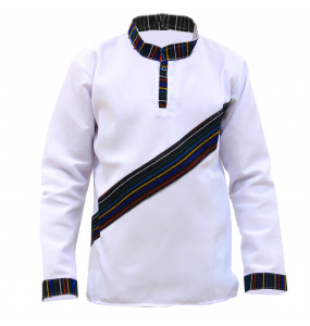 Alemu_ Men's Long Sleeve Crewneck Cultural Shirt