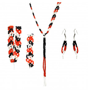 Alemu_ Traditional Necklace, Headband, Bracelet, Earrings Set