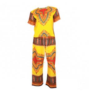 Alemu_ Women's Africa Fabric 2- Piece  Top & Bottom Set