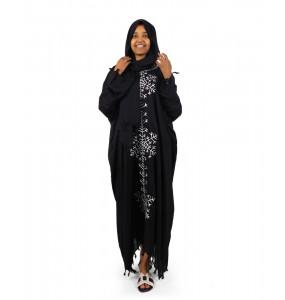 Alemu_ Women's Long Sleeve Abaya with Hijab