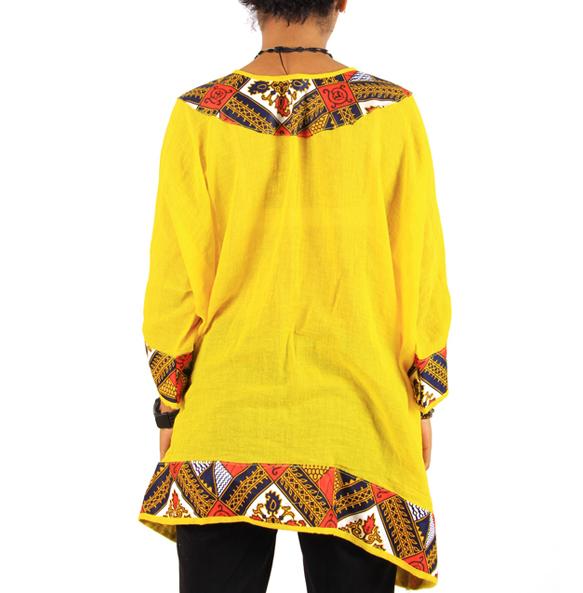 Alemu_ Women's Traditional Africa Print Top Shirt