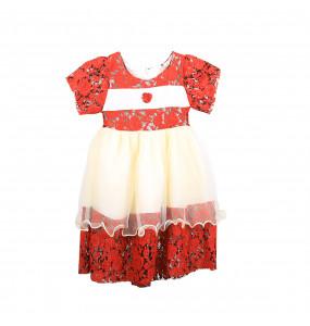 Rahel _Cute Short Sleeve kids Dress (0-4 Years)