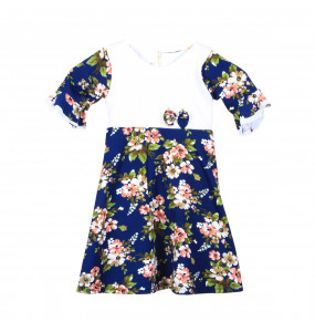 NANI Half Sleeve Round Neck Kids Dress