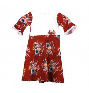 NANI Half Sleeve Round Neck Kids Dress