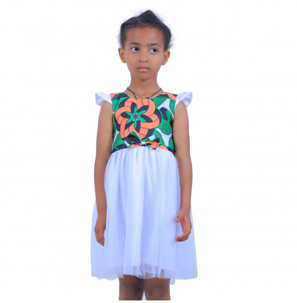 Etaferahu _Sleeveless Cute Kids Dress