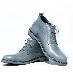 Weynshet_ Men's Genuine Leather Lace up Short boots