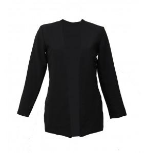 Aklilu_Women's Open Front Long Sleeve plus Size Cot