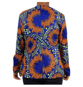 Aklilu_ Women African Print Coat