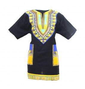 Hiwot_ Traditional African Print Dashiki Bodycon Short Sleeve Unisex Top Shirt