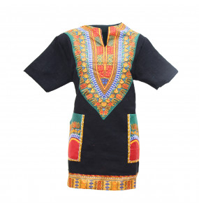 Hiwot_ Traditional African Print Dashiki Bodycon Short Sleeve Unisex Top Shirt