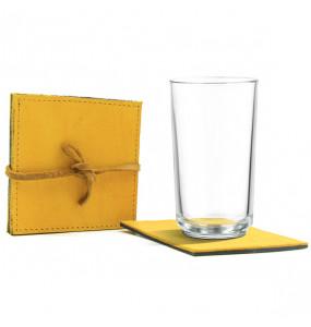 Kabana pure leather Non Slip Reusable  Cup/ Table Coasters 3pcs/ Set
