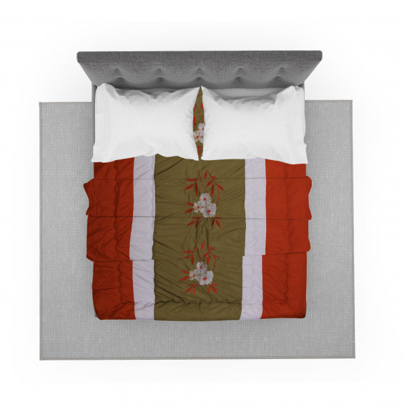 KABANA  DOUBLE  BLANKET COVER SET WITH BUTTON CLOSURE AND WITH TWO PILLOWCASE (200*220CM)