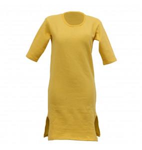 Elsabet_Women's Soft Cotton Relaxed fit Short Sleeve Sweatshirt Dress