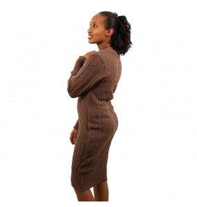 ETHIOPIA_THREAD MADE WOMEN'S LONG SLEEVE SWEATER DRESS