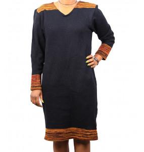 Ethiopia_ 100% Thread Made Stylish Women's Long- Sleeve Dress Large Size