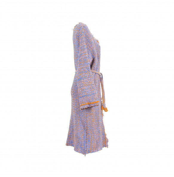 Ethiopia Women's Thread made Open front Long-sleeved Tie waist Sweater