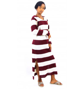 Ethiopia_ Thread Made Women's Long-sleeve Dress