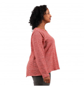 Ethiopia_ Thread Made Long Sleeve Open Back Top