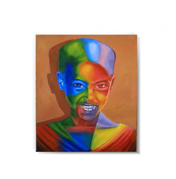 Acrylic Canvas  Colorful  Painting Wall Art (ገጽታን በቀለማት) -75*90