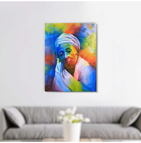 Acrylic Canvas  Colorful  Painting Wall Art (ገጽታን በቀለማት)