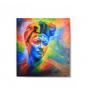 Acrylic Canvas  Colorful  Painting Wall Art (ገጽታን በቀለማት) -60*80