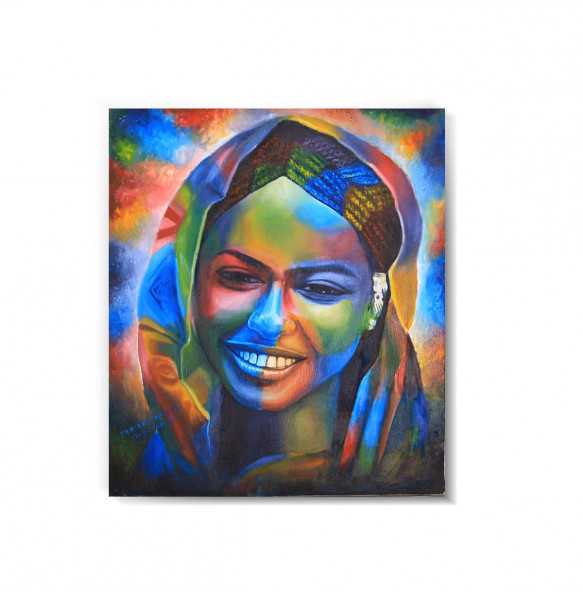 Oil Paint Canvas  Colorful  Painting Wall Art (ገጽታን በቀለማት) - 60*80