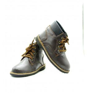 CHERU_kids Dark brown Short boots
