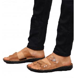 Cheru_  Upper Leather Men's Open Shoe